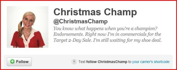 Christmas Champ Twitter Page